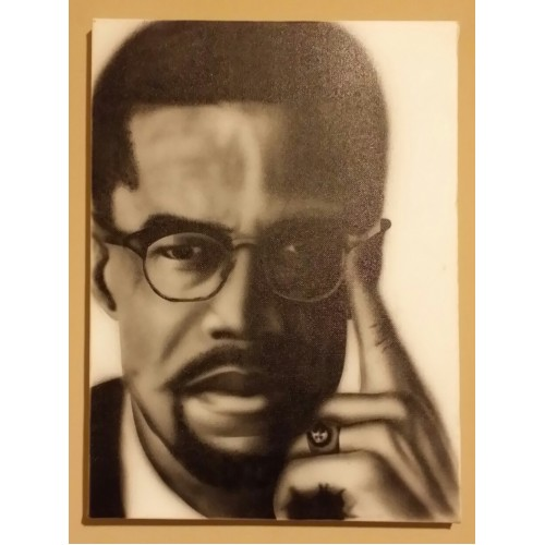 Airbrushed Art (Malcom X)