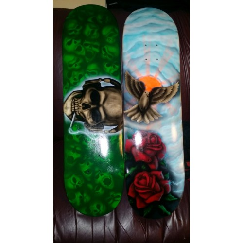 Custom Airbrushed Skateboard
